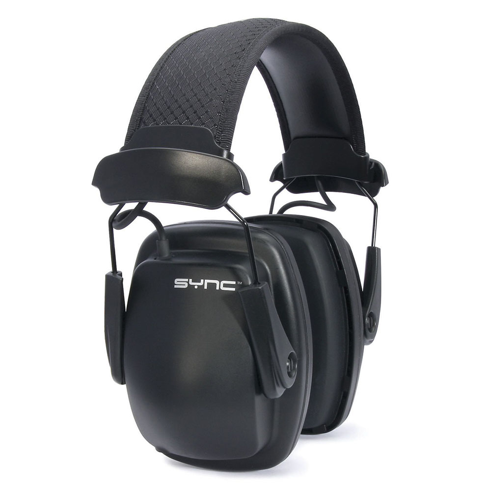 Honeywell Stereo Hearing Protector Earmuffs for use with MP3 players with 3.5mm Input (Black) - 1030110