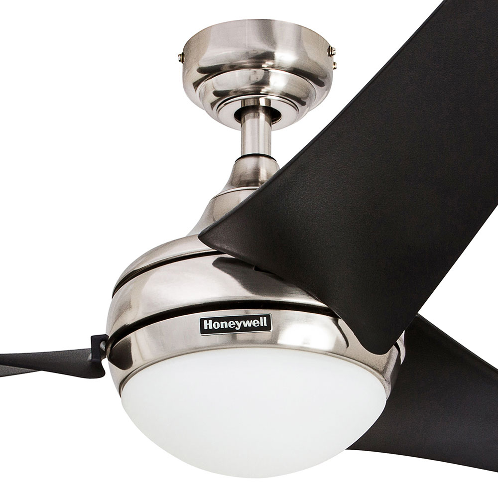 Honeywell Rio Ceiling Fan, Brushed Nickel Finish, 54 Inch - 50195