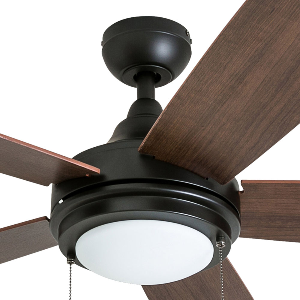 Honeywell Ventnor 52-Inch Modern Espresso Bronze LED Ceiling Fan with Integrated Light - 50607-03