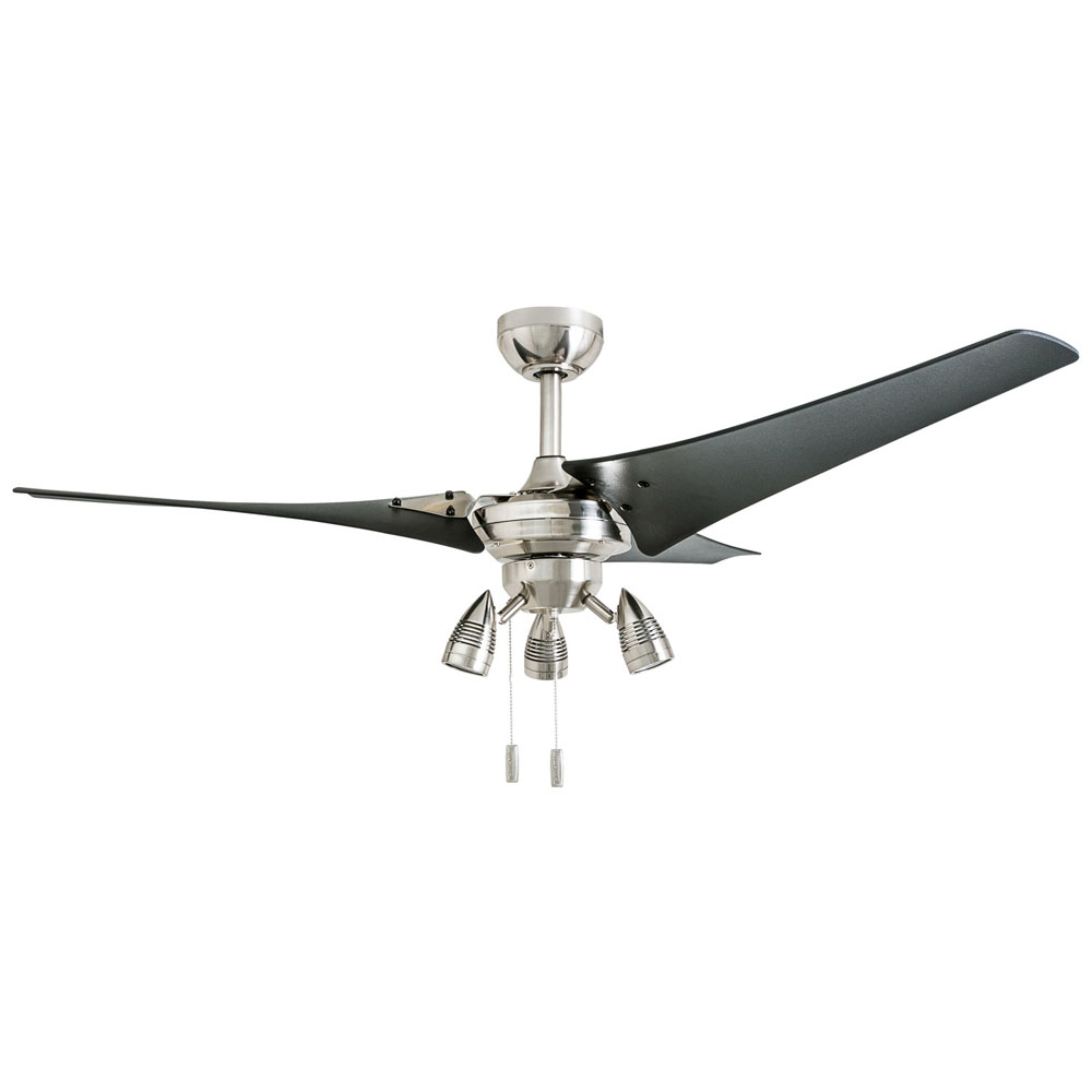 Honeywell Phelix 56-Inch Brushed Nickel 3 Blade Contemporary Ceiling Fan - 50611-03