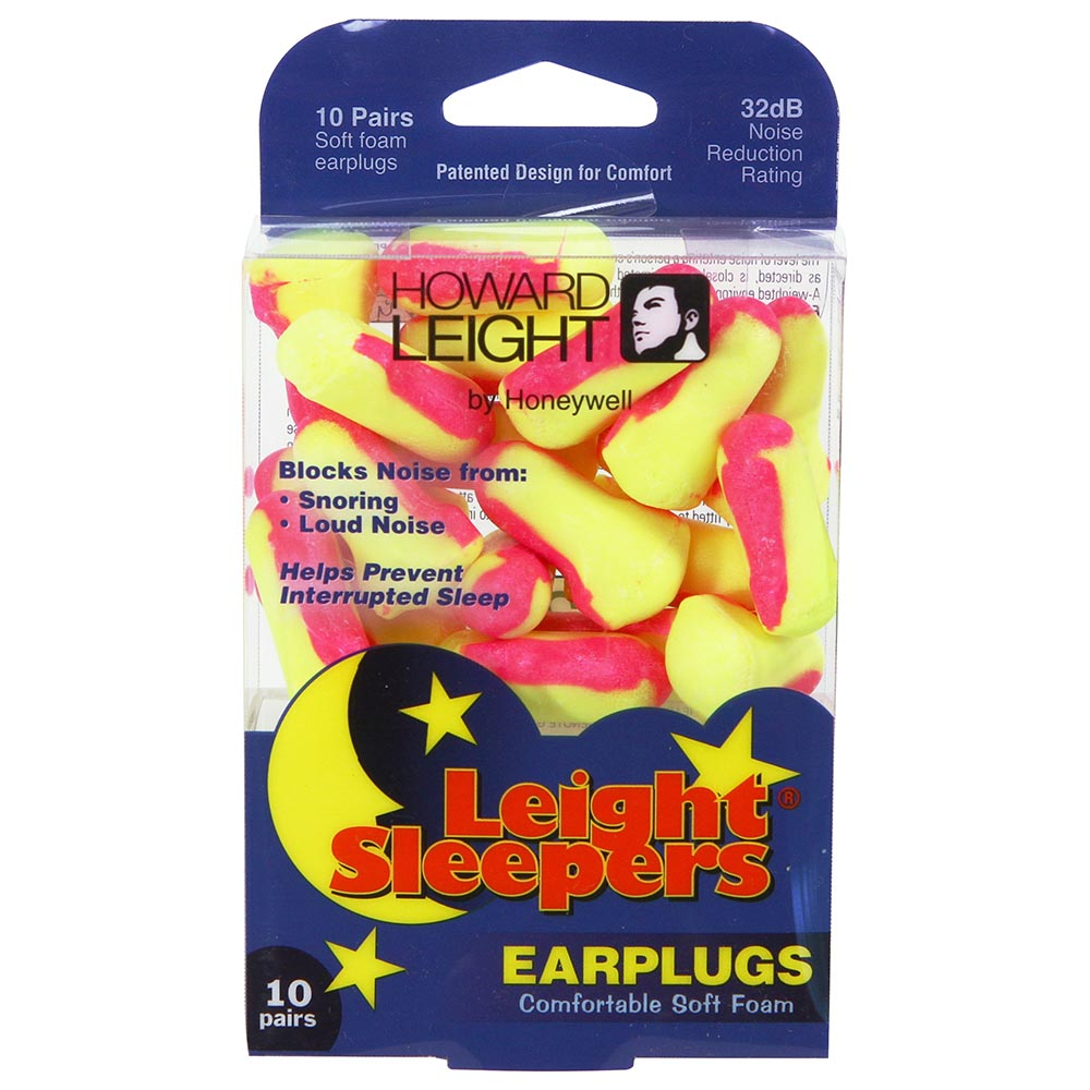 Honeywell Leight Sleepers Single-Use Foam Earplugs, 10-Pairs - R-01680