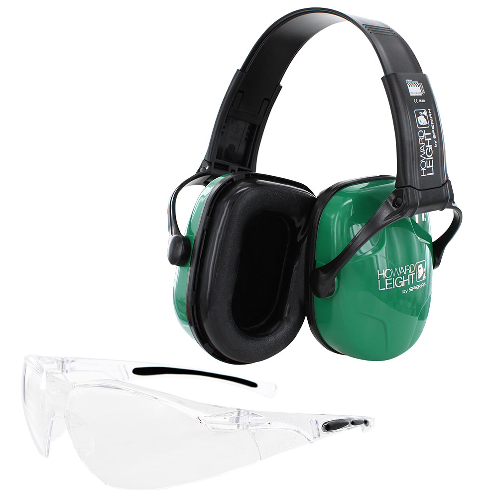Honeywell Adult Shooting Combo Kit, Earmuff and Shooter's Safety Eyewear 25 NRR - R-01761