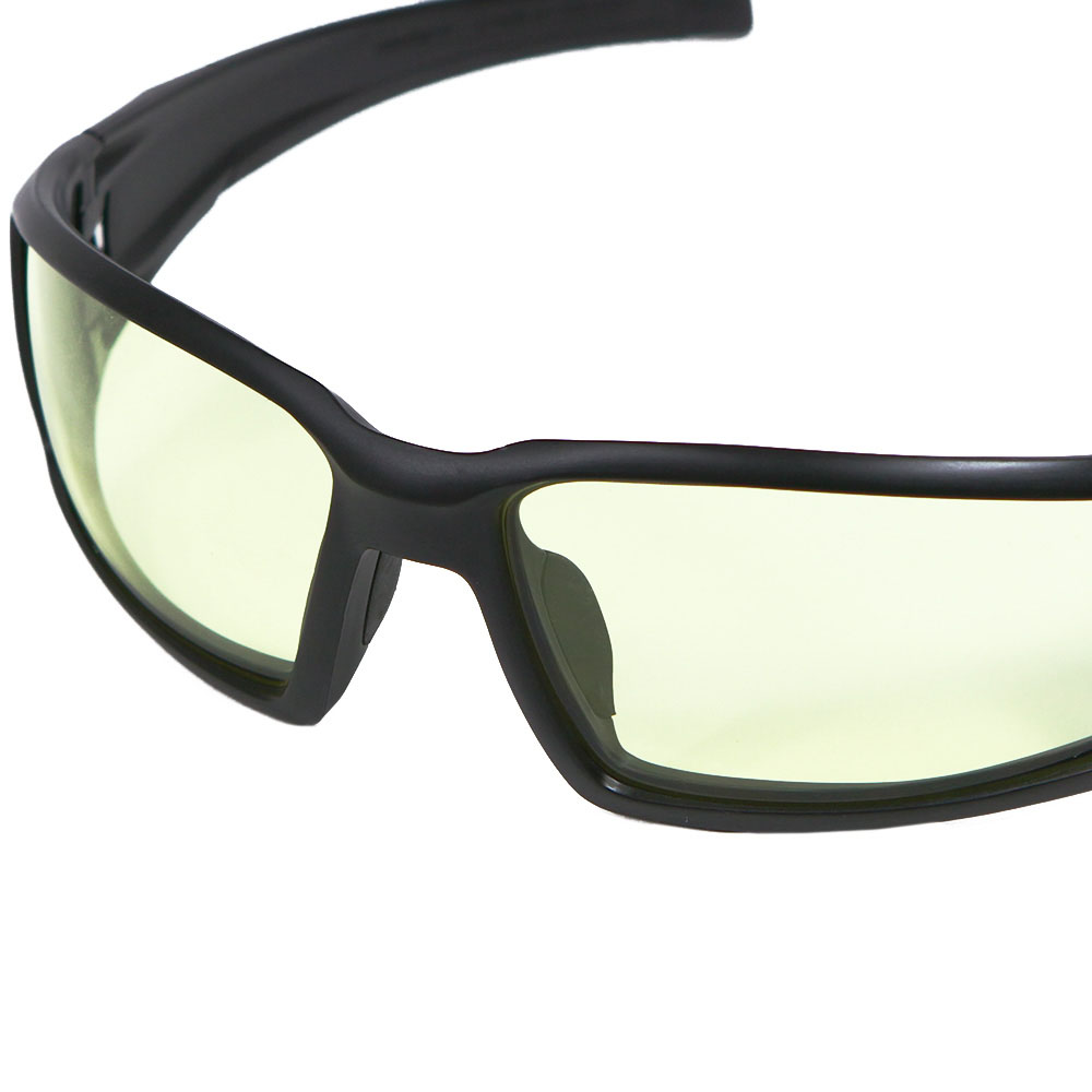 Honeywell Hypershock Shooter's Safety Eyewear, Black Frame, Amber Lens with Uvextreme Plus Anti-Fog lens coating - R-02221