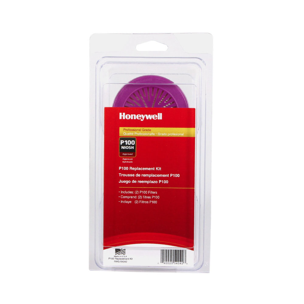 Honeywell P100 Filter Replacement Kit, for Honeywell Convenience Pack Respirators, 2 pk - RWS-54042