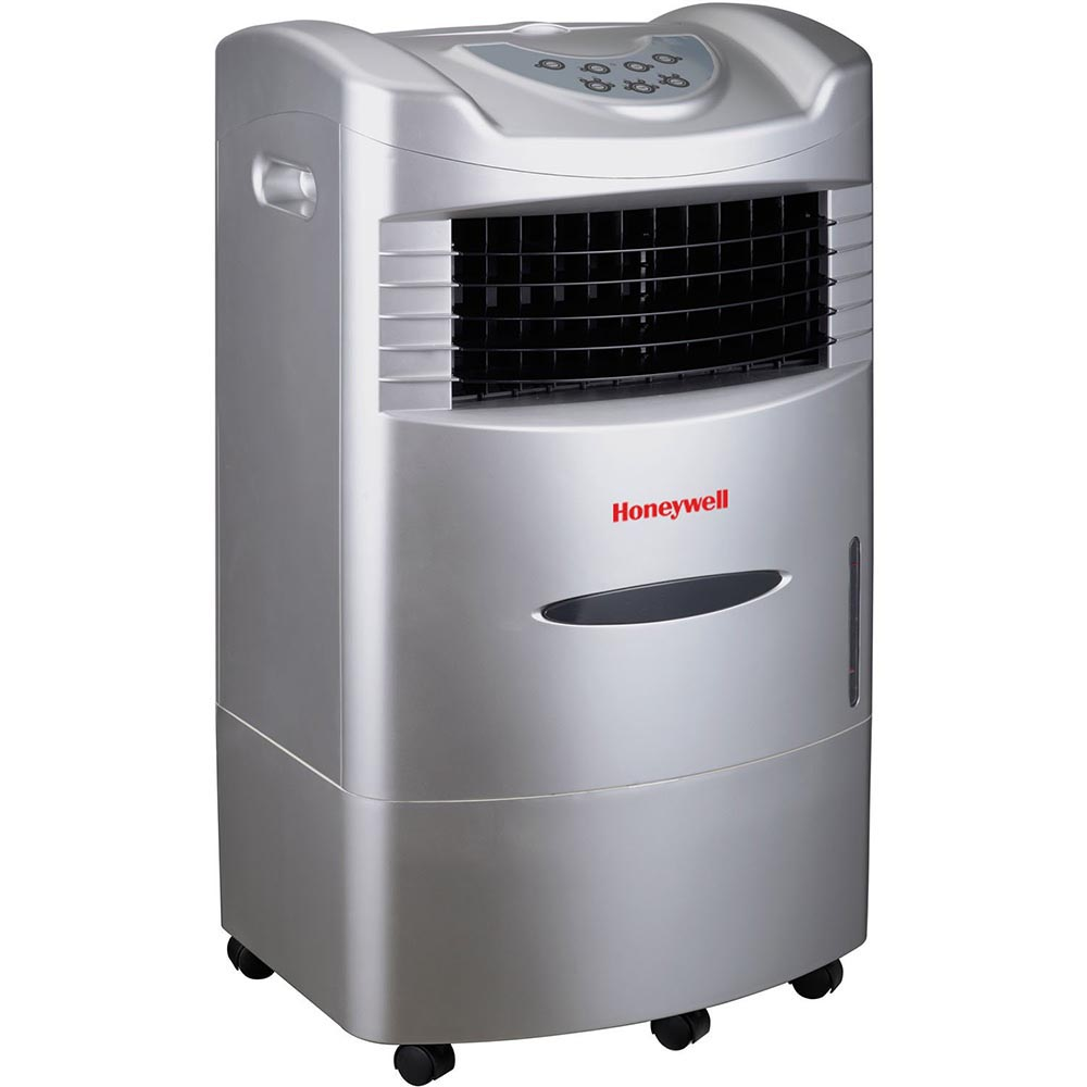 Honeywell CL201AE Portable Evaporative Cooler with Remote Control, 470 CFM - 5.3 Gallon Tank (Gray)