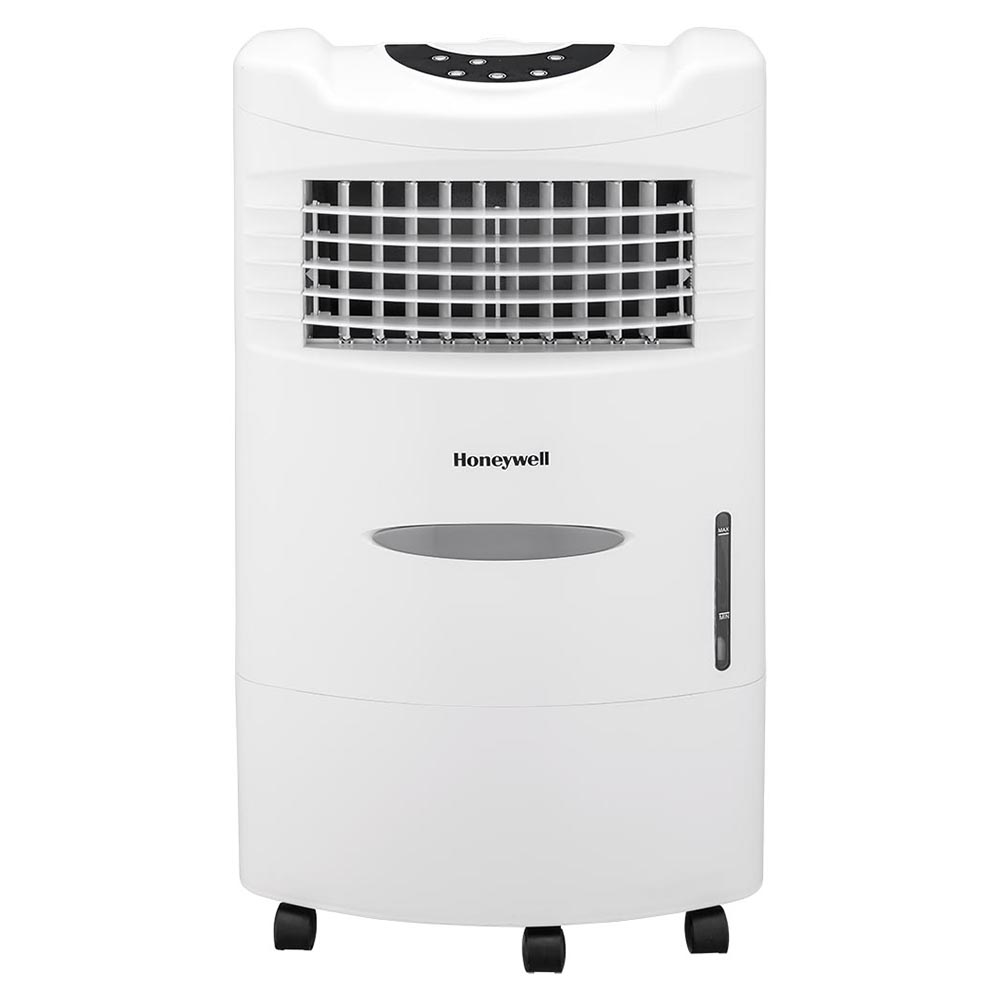Honeywell CL201AEW Evaporative Air Cooler with Remote Control, 470 CFM - 5.3 Gallon Tank (White)