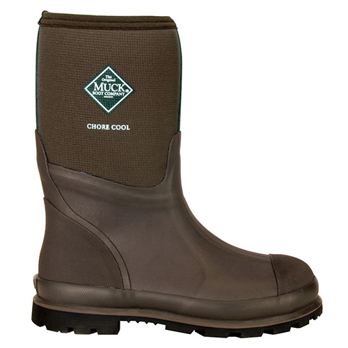 Muck Boots Chore Mid-Cut Xpress Cool Work Boot in Brown, CMCT-900