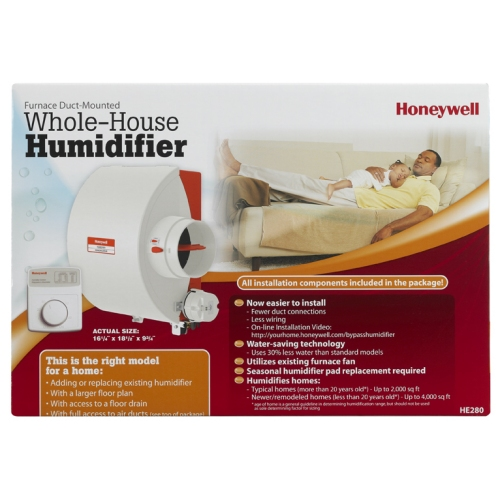 Honeywell Whole House By-Pass Humidifier with Water Saving Technology, HE280A2001/U