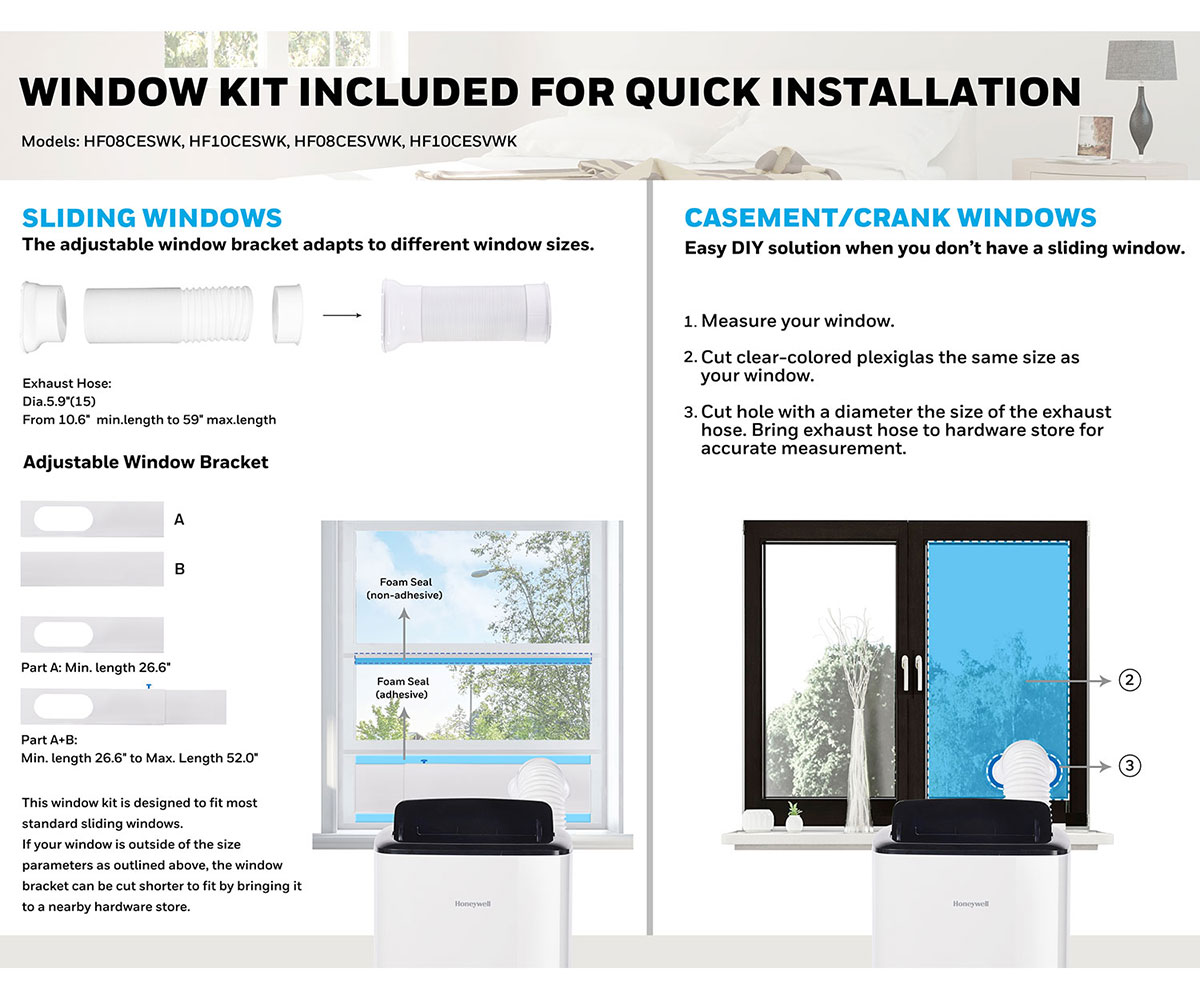 honeywell hf air conditioner window bracket installation