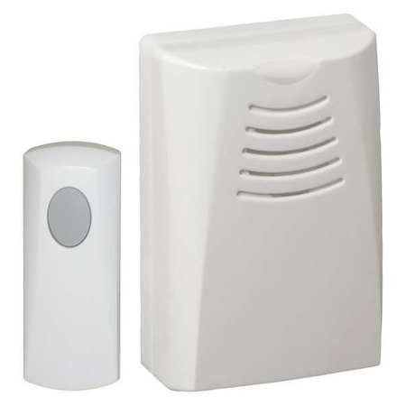Honeywell RCWL100A1008/N Portable Wireless Push Button Door Chime, White Finish