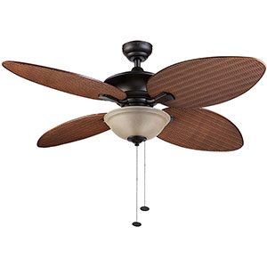 Honeywell Sunset Key Outdoor & Indoor Ceiling Fan, Bronze, 52 Inch - 10263