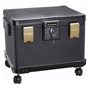 Honeywell 1108W Legal Size Waterproof 1 Hour Fire File Chest (1.06 cu') with Whe