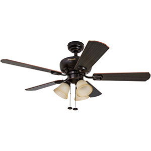 Honeywell Springhill Ceiling Fan, Oil Rubbed Bronze Finish, 44 Inch - 50185