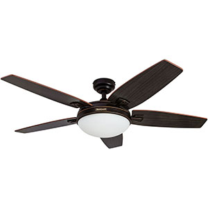Honeywell Carmel Ceiling Fan, Oil Rubbed Bronze Finish, 48 Inch - 50197
