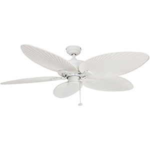 Honeywell Palm Island Ceiling Fan, White Finish, 52 Inch - 50200