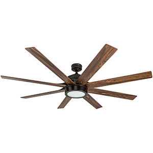 Honeywell Xerxes 62 In. Bronze LED Remote Control Ceiling Fan- 50609-03