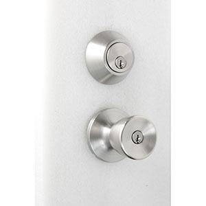 Honeywell Tulip Door Knob Home Security Kit, Satin Nickel, 8100306