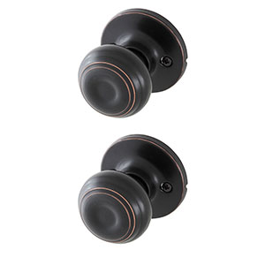 Honeywell Classic Passage Door Knob, Oil Rubbed Bronze, 8101403