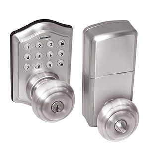 Honeywell Electronic Entry Knob Door Lock with Keypad in Satin Nickel, 8732301