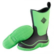 Muck Boots Kid's Hale Outdoor Sport Boot, Neon Black/Green, KBH-300