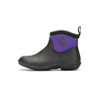 Muck Boots Muckster II Ankle High Waterproof Boot, Black/Purple, M2AW-500