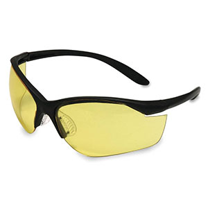 Honeywell Vapor II Shooter's Safety Eyewear, Black frame, Amber Lens, Anti-Fog Lens Coating - R-01536