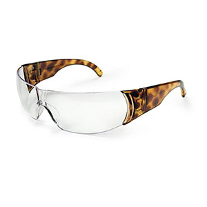 Honeywell W300 Women's Series Shooter's Safety Eyewear, Tortoise/Clear - R-01704