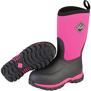 Muck Boots Kid's Rugged II Performance Outdoor Boot, Pink/Black, RG2-400