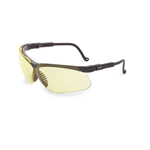 Honeywell Genesis Safety Eyewear, Black Adjustable Frame, Amber Lens - RWS-51025