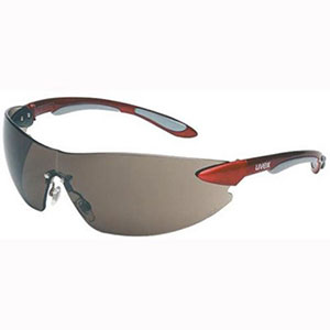 Honeywell Uvex Ignite Safety Eyewear, Red/Silver, Gray Lens - RWS-51038