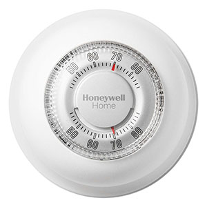 Honeywell CT87K1004 The Round Heat Only Non-Programmable Manual Thermostat