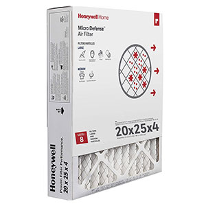 Honeywell CF100A1025 4-Inch High Efficiency Air Cleaning Filter 20x25x4.5