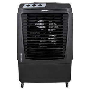 Honeywell CO610PM Outdoor Evaporative Air Cooler & Fan, 2100 CFM for Large Outdoor Spaces - 14 Gallon Tank (Black)