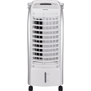 Honeywell CS074AE Portable Evaporative Cooler with Remote, 200 CFM (White)