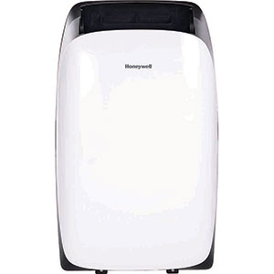 Honeywell HL12CESWK Portable Air Conditioner, 12,000 BTU Cooling, with Dehumidifier and Remote (White/Black)