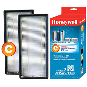 Honeywell Filter C HEPAClean Replacement Filter- 2 Pack, HRF-C2