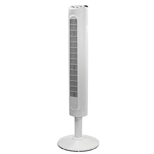 Honeywell Comfort Control Tower Fan, Slim Design, Powerful Cooling - White, HYF023W
