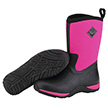 Muck Boots Women's Arctic Weekend Casual Boot in Black/Hot Pink, WAW-404